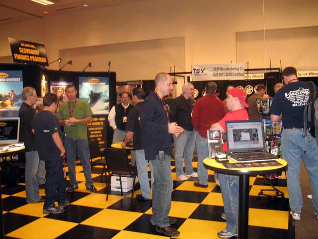 Our booth was packed from the time the doors opened at Dealer Expo.